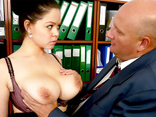 Boss made discard nearly secretary's huge tits
