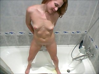This neat nympho is entirely exposed and she is ready to touch herself