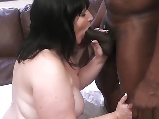 Fatty takes his huge black thing