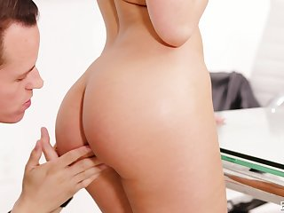 Moka Mora gets her round firm ass glazed with cum after a doggy fuck