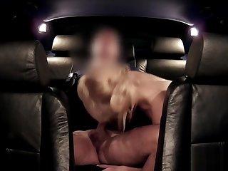 Police man anal fingers blonde slut in car