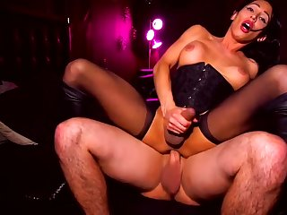 TS Riding Cowgirl, Reverse cowgirl, Creampie (compilation)