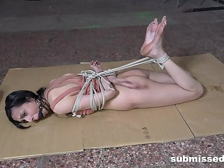 Skinny model Ashley Ocean tied up and tortured by her lover