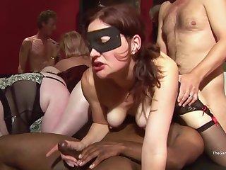 Kinky MILF hot gangbang club video