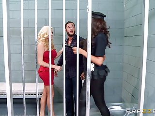 Threesome in the prison with whores Ava Koxxx and Summer Brielle
