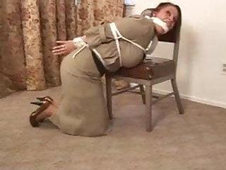Tied up sexy teacher