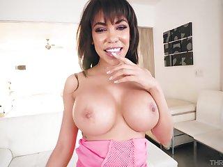 Hot Latina MILF is keen to devour this big dick