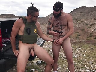 Army dudes are keen to try anal sex together