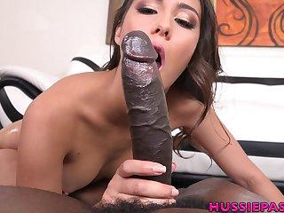 Bosomy sexy MILF Lilo Mai spreads legs to be fucked by black hunk