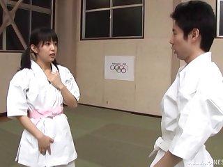 Japanese babe with small tits Nana Nanaumi gets fucked hard