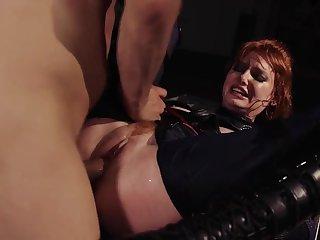 Voluptuous Lacy Lennon rough gangbang porn scene