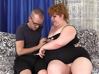 Beamy Redhead Velma Hoodoo Blows with the addition of Fucks a Skinny Dude