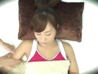 Asian gal gets romped with various objects