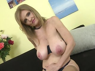 Mature princess mom with super big saggy tits
