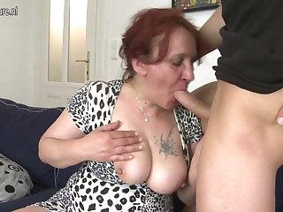 Lucky son fucks not his grandmother