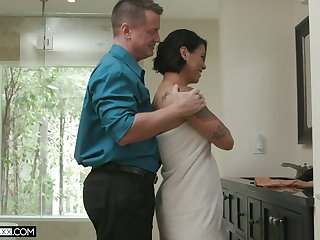 Busty and sexy cock rider Dana Vespoli is horny about steamy doggy fuck