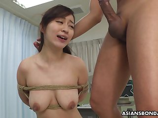 Busty Japanese chick, Maria Ono got tied up and