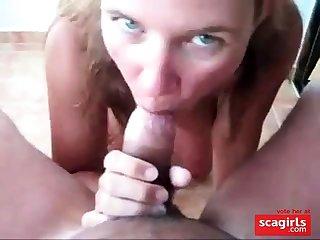 great big tits girl fuck and facial on holiday