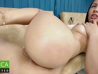 Colombian Girl Plays With Pink Dildo - darkhaired latina nymph