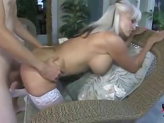 Honey busty experienced woman got her asshole punished