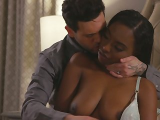 Sexy ebony GF with juicy booty Daya Knight bends over for some doggy