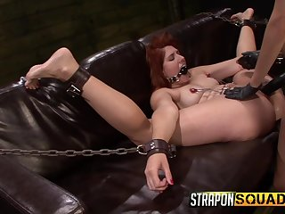 Big ass redhead brutally fucked by her lesbian mistress